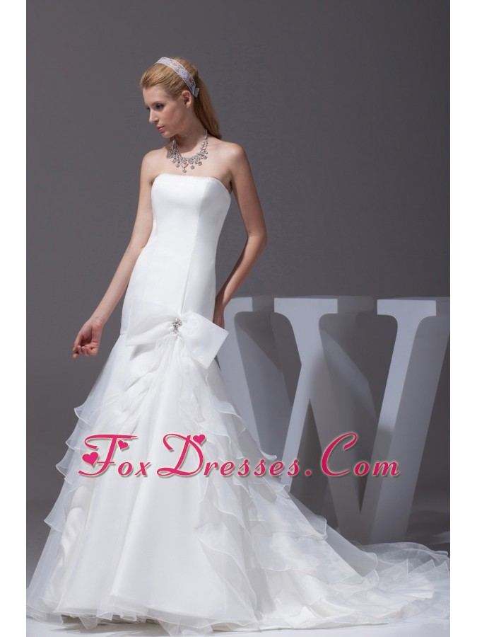 girly organza bridal gown