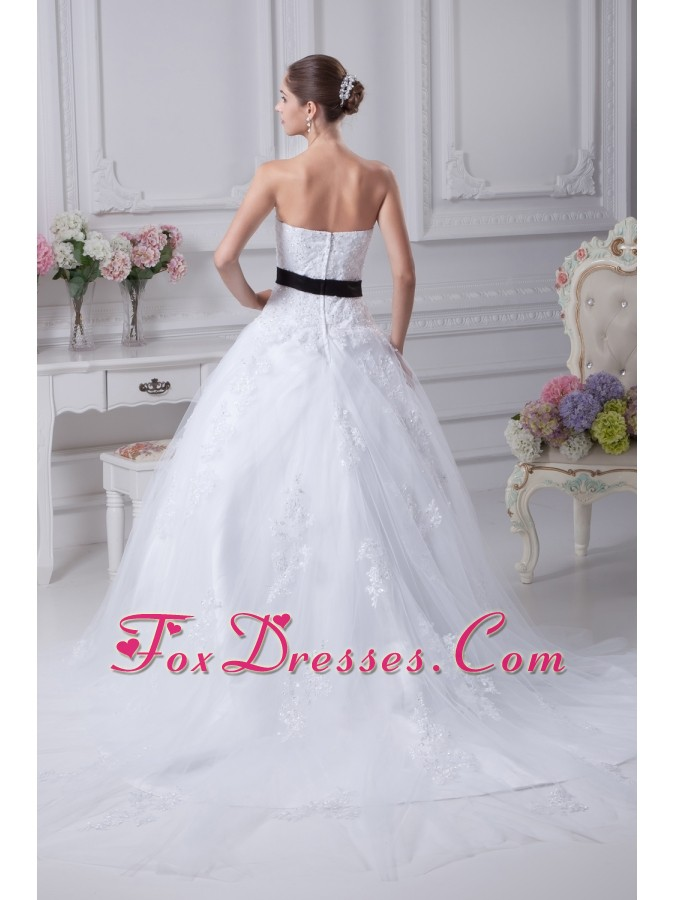 turn heads appliques wedding dress