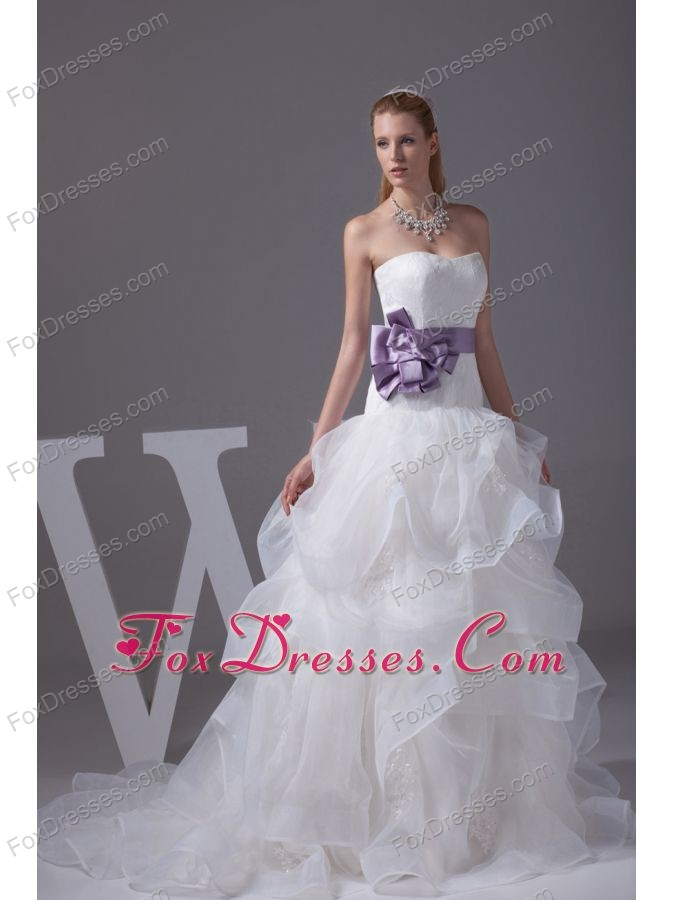 exquisite a-line wedding gown