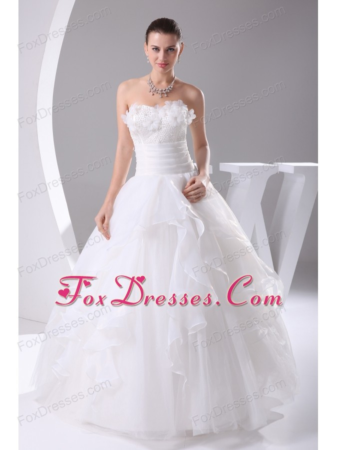 Beading 2013 Beautiful long Ball Gown Sweetheart Wedding Dress