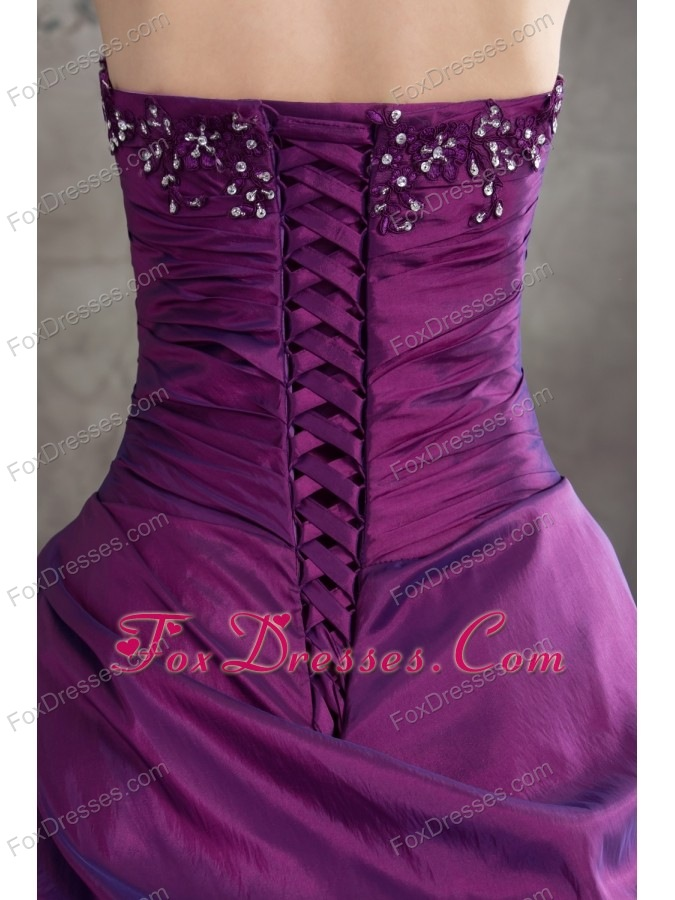 purple quinceanera gowns with appliques