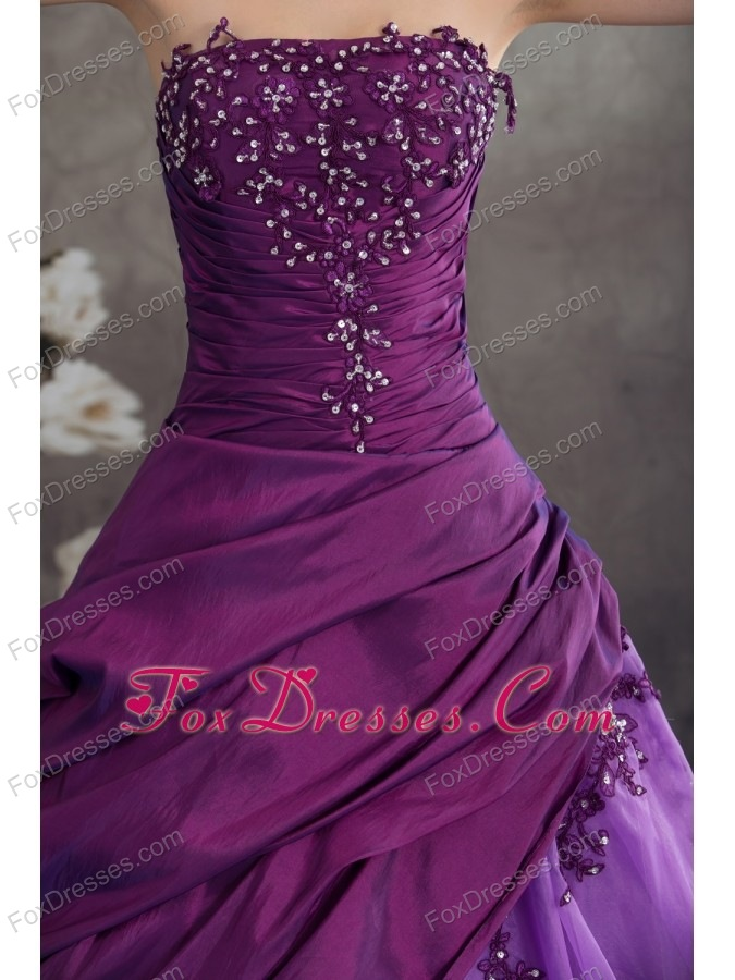 sweet strapless taffeta quinceanera gowns