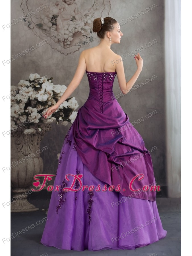 recommended sweet 16 dress in purple