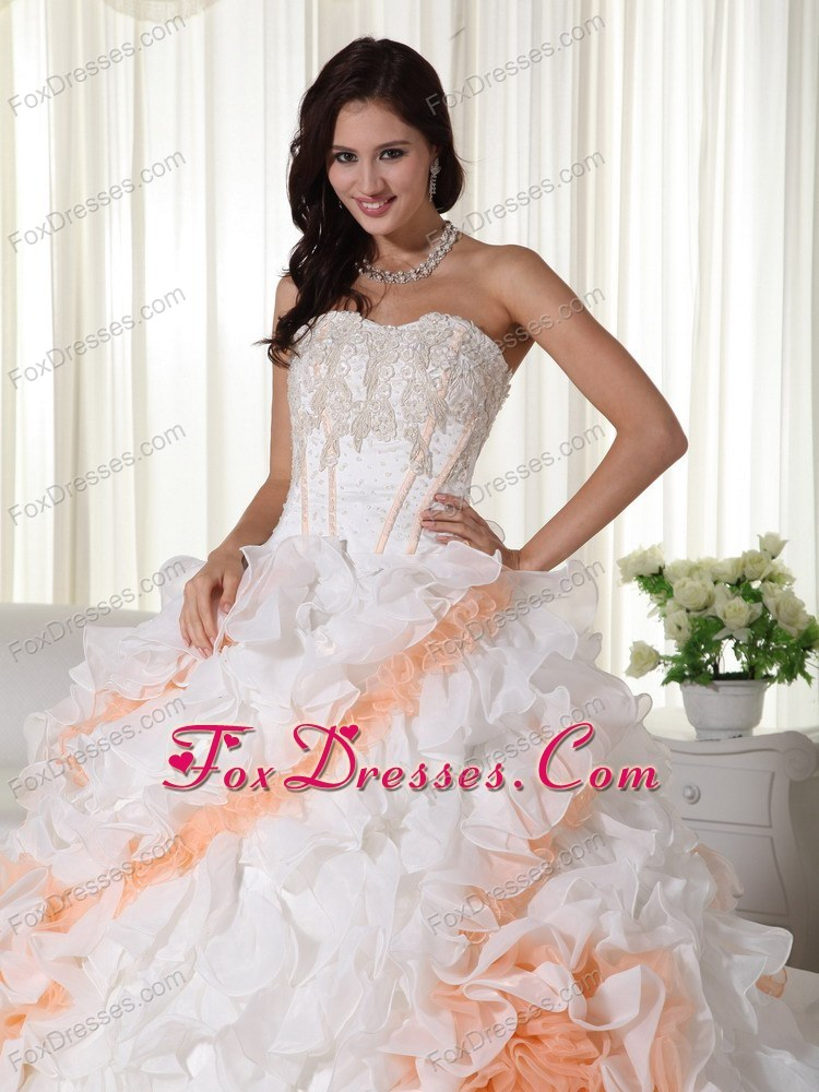 2013 Colorful Wedding Dress Organza Appliques Ball Gowns