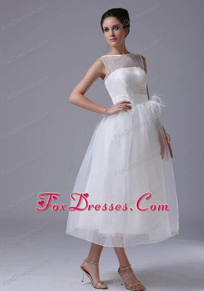 Cheap simple tea length short wedding dress for Cheap wedding dresses tea length