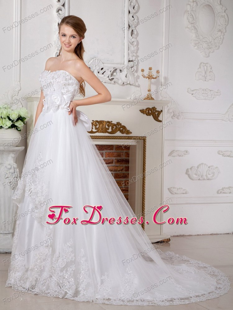 memorial day may wedding gown high end