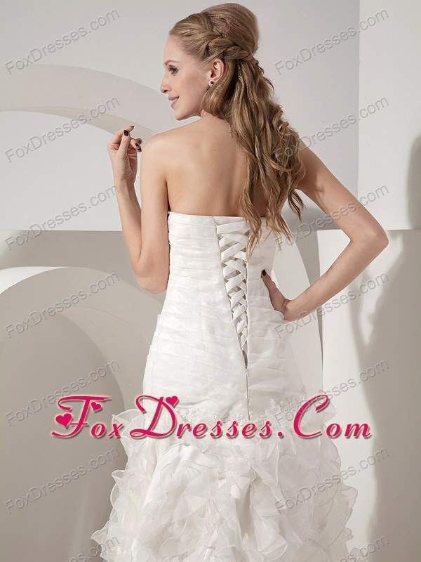 necessary fitted waist easter day wedding dress