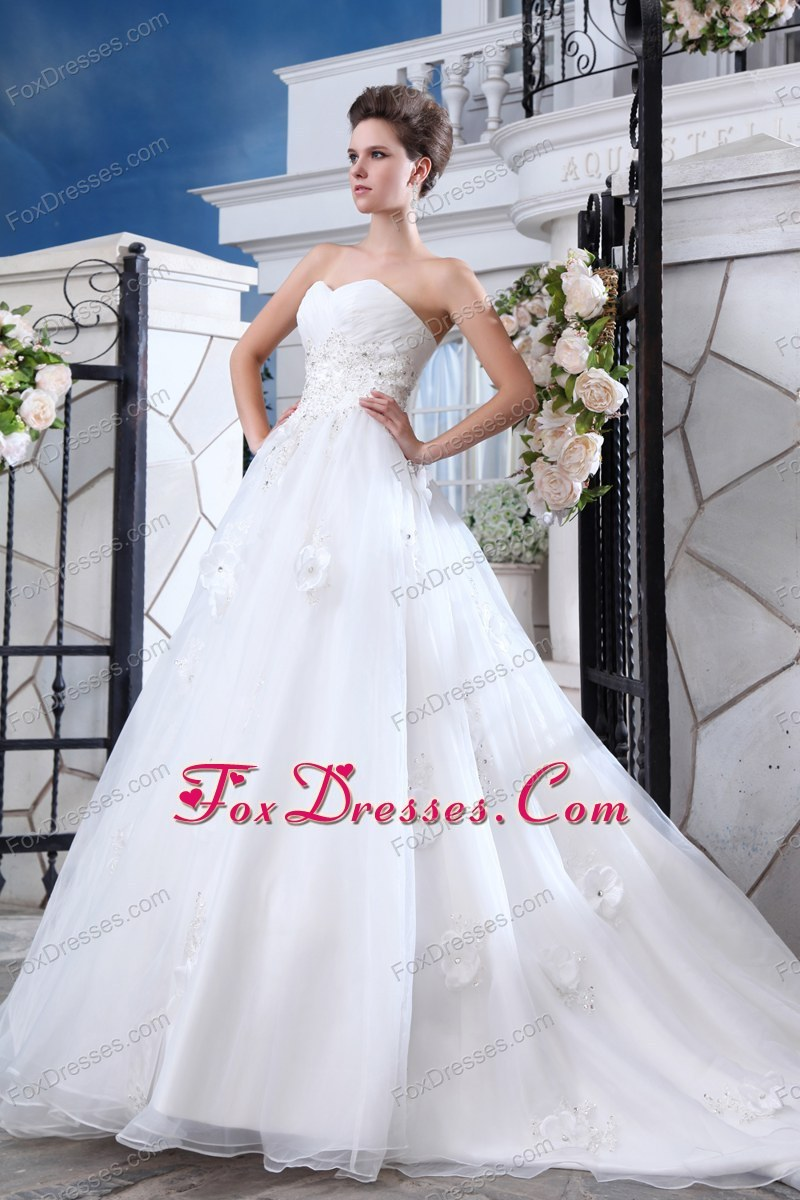 white bridal gown with built in bra