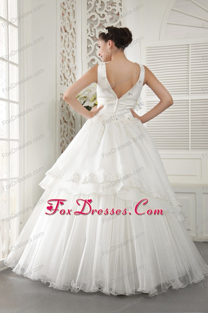 2014 summer wedding gown with ruching layers