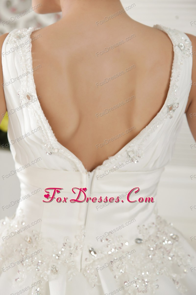zipper up back dress for wedding in princess style