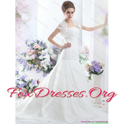 Popular A Line Strapless Wedding Dress for 2015