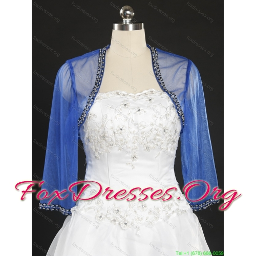 Affordable White Sweetheart Ruching Wedding Dresses with Brush Train and Beading