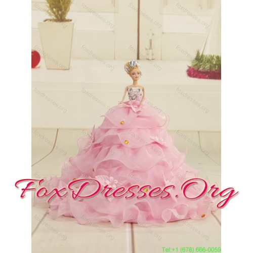 Red Strapless Plus Size Quinceanera Dress with Ruffles and Beading