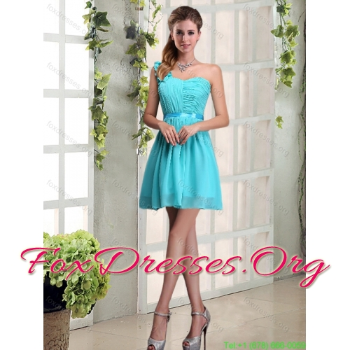 Multi Color Sweetheart Ruffles Quinceanera Dress and Baby Blue Short Dama Dresses and  Multi Color Straps Beading Little Girl Dress