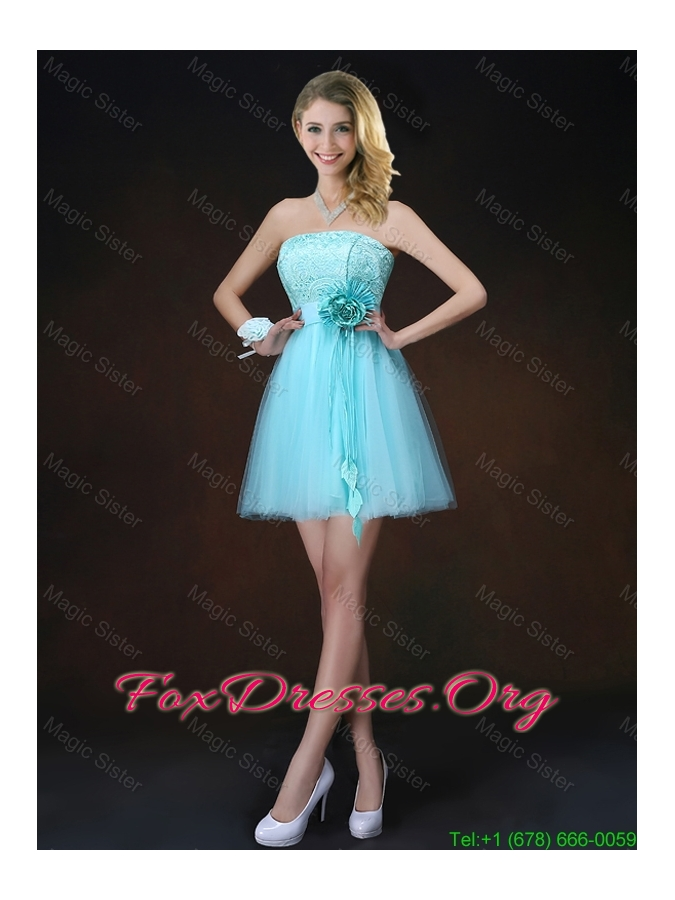 Beautiful A Line Aqua Blue Bridesmaid Dresses with Appliques