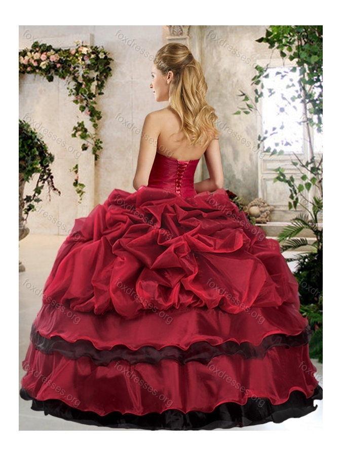 2016 Pretty Ball Gown Beading and Pick Ups Sweet 16 Dresses
