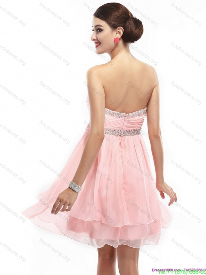 Beautiful Sweetheart 2015 Bridesmaid Dress with Beading and Ruching