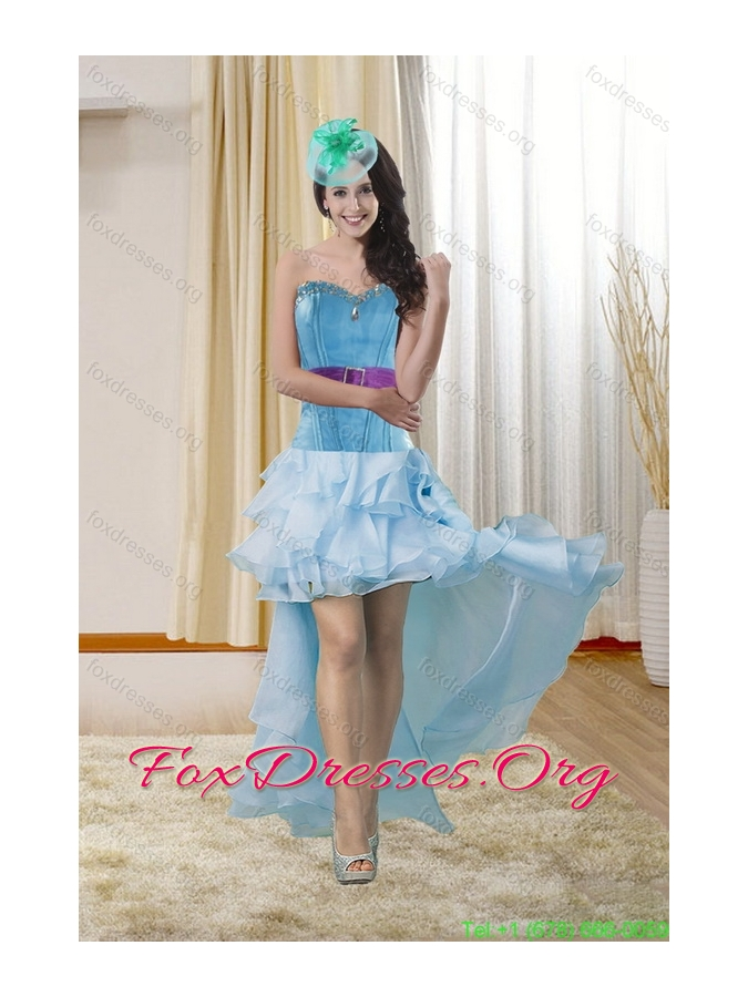 Plus Size Sweetheart Prom Gown with Ruffles and Beading