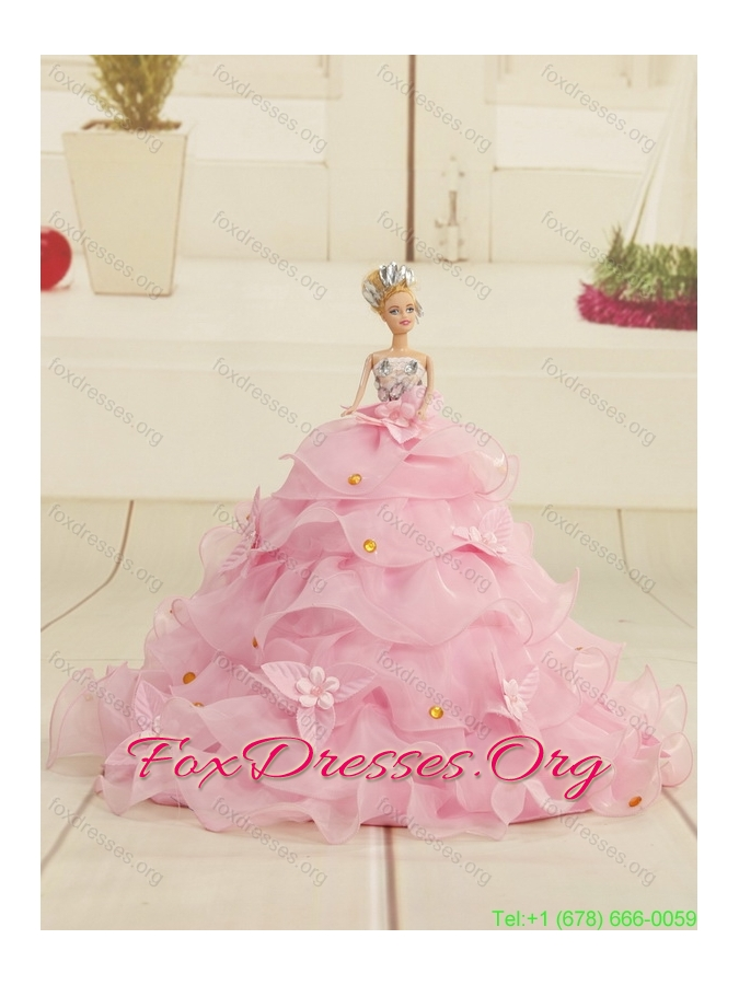 Most Popular Beading and Ruffles White Pretty Girls Party Dresses