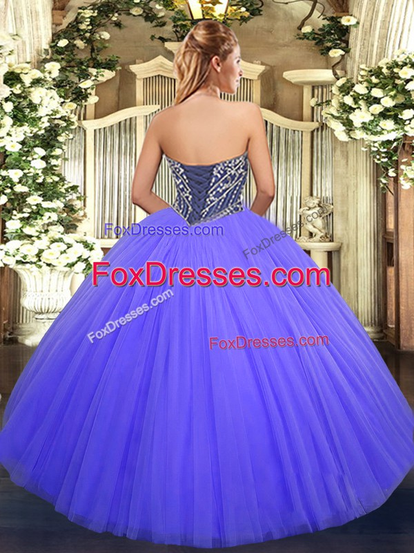 Admirable Sleeveless Floor Length Beading Lace Up Quinceanera Dress with Orange