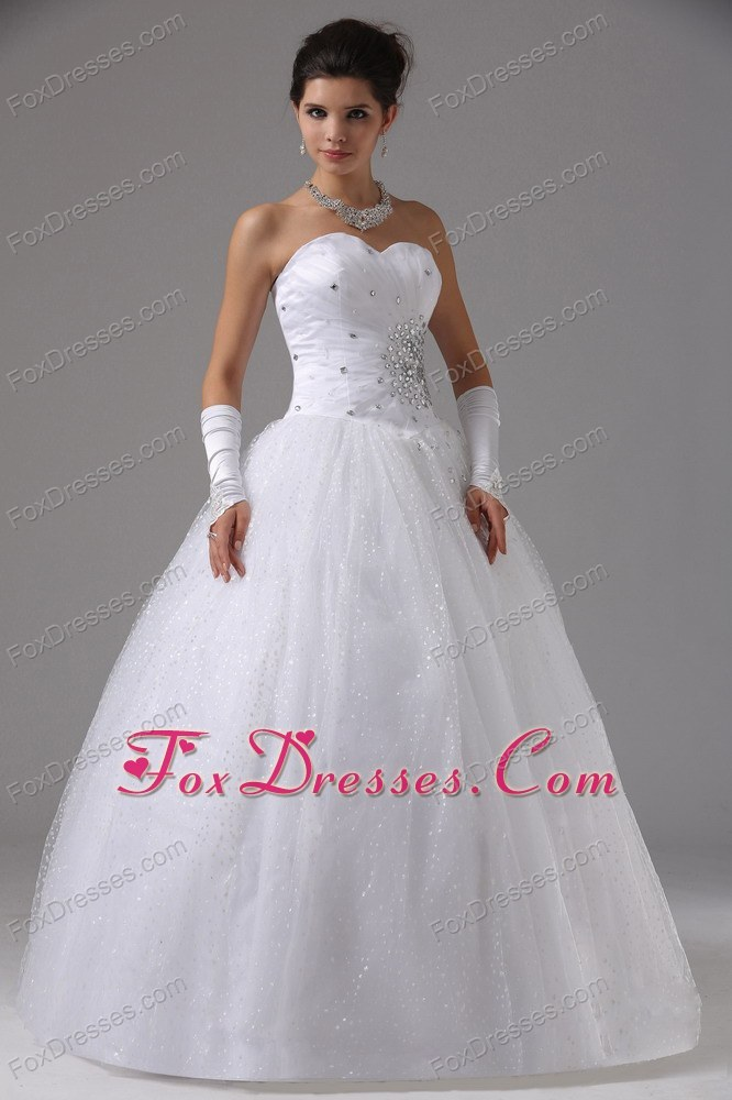 Wedding Gown Beading Sweetheart Tulle for Custom Made