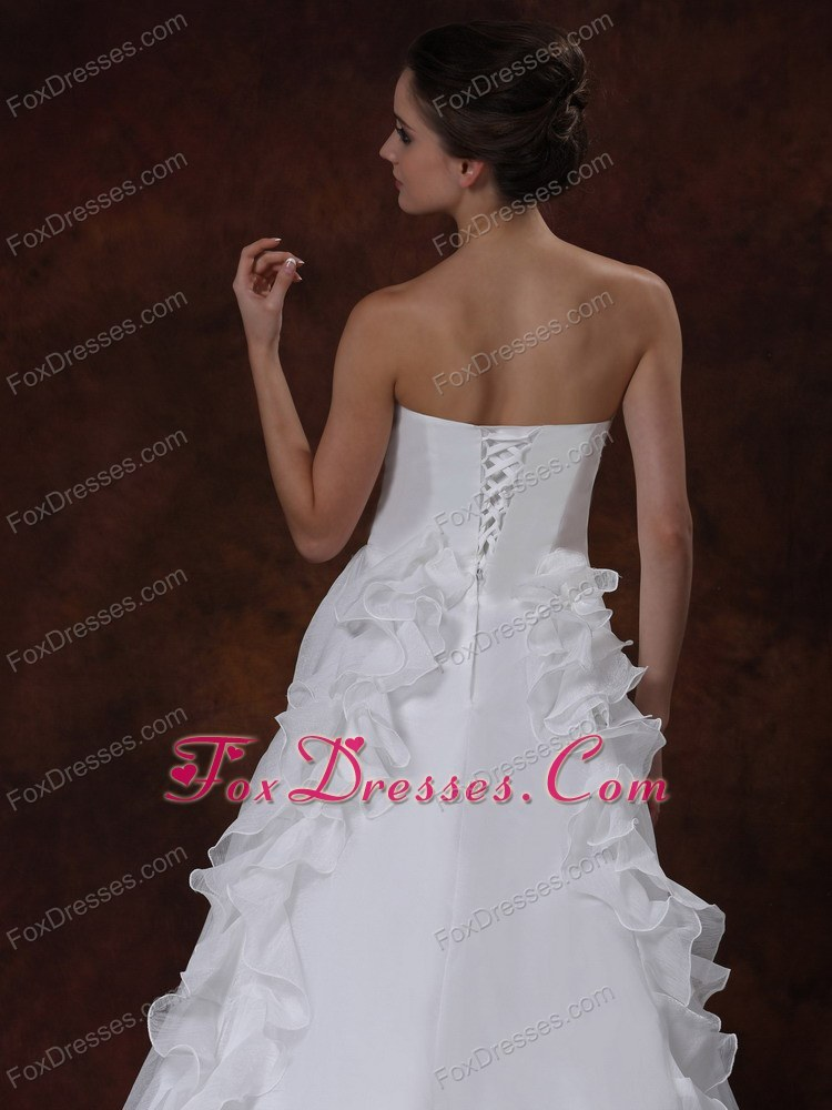 modern strapless wedding ball gown