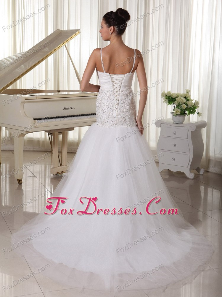 2014 gorgeous wedding bridal dresses with court train