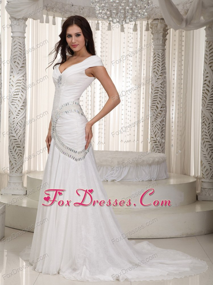 2013 2018 high class wedding dress with zipper up