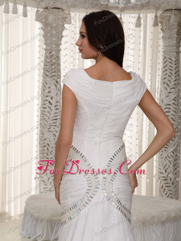 dressy mermaid court train bridal gowns
