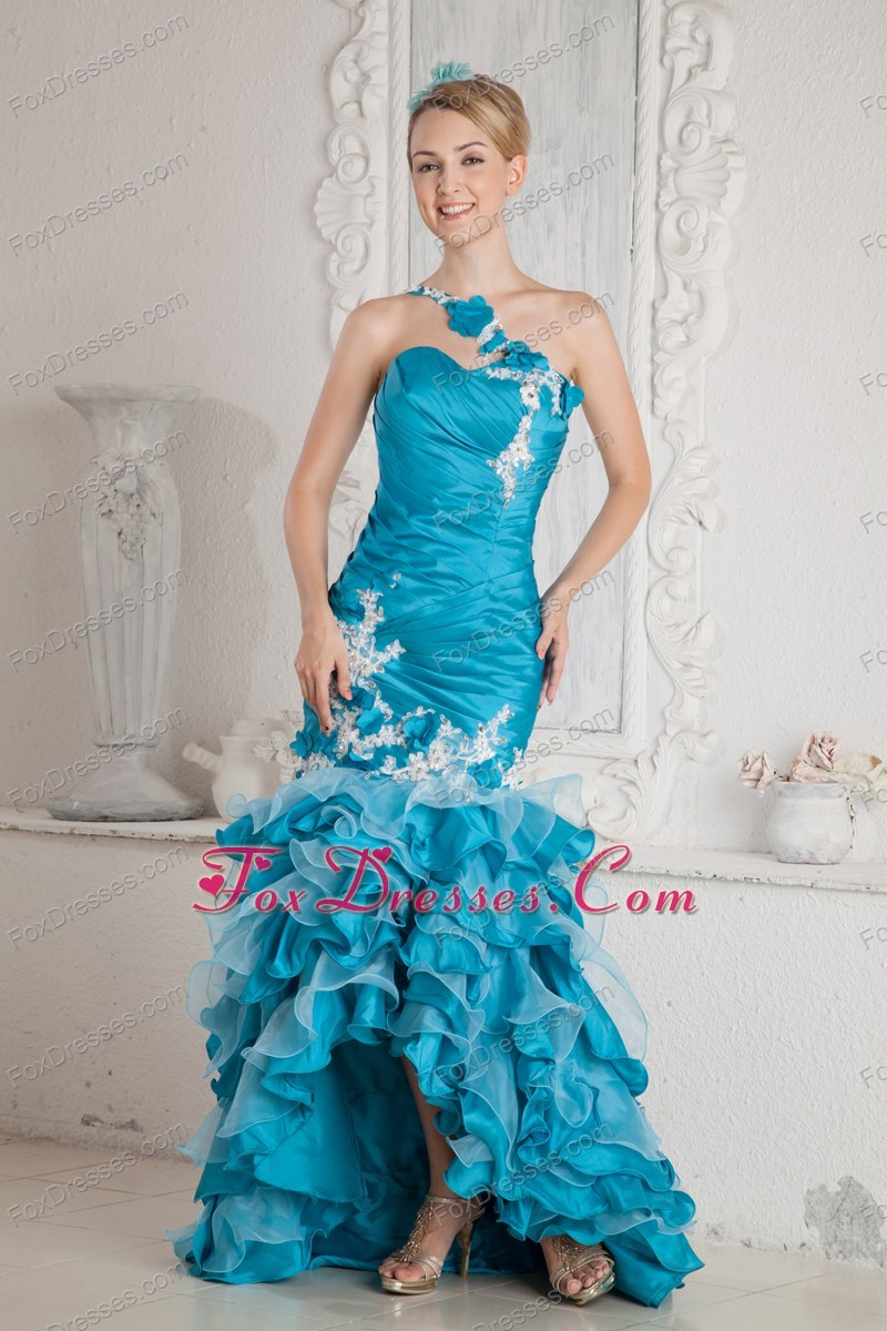 Mermaid One Shoulder High-low Prom Dress