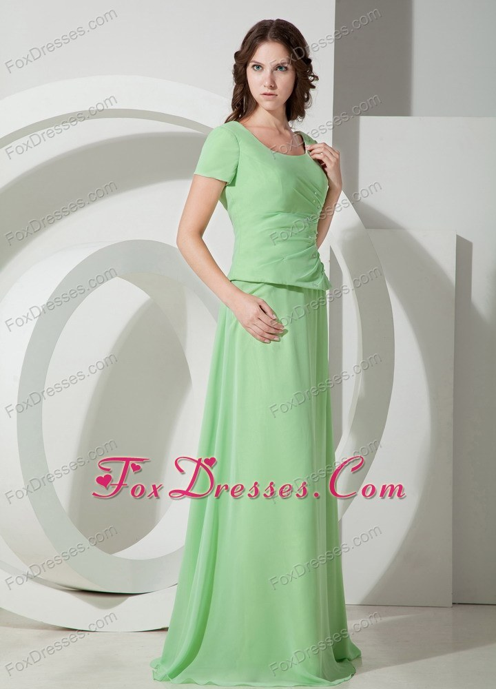 Apple Green Scoop Brush Wedding Outfits For Groom Mother