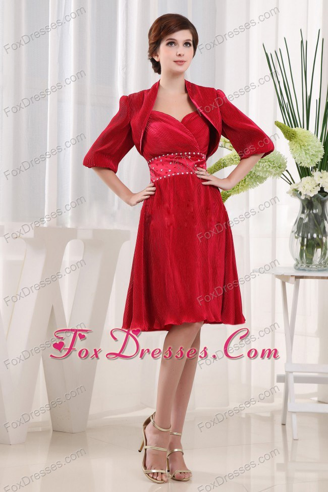 Red Mother of the Bride Gowns