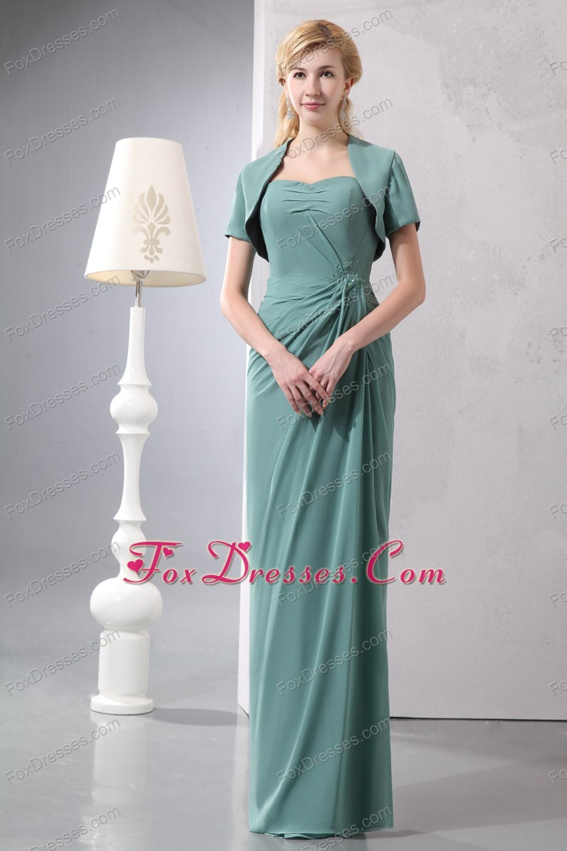 Column Sweetheart Mother of the Bride Dress in Green