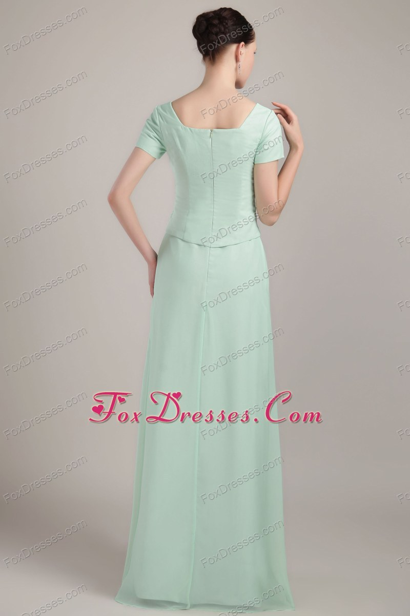 Column Sheath Mother Of The Bride Dress in Apple Green