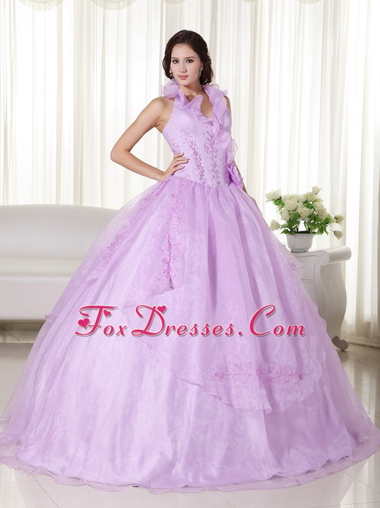 Halte Embroidery and Beading Lavender Quinceanera Dress