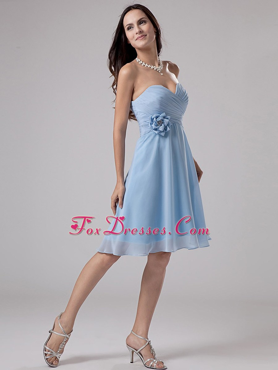 Light Blue Homecoming Dress With Sweetheart