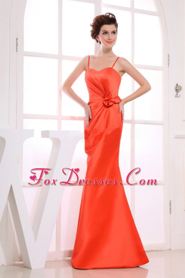Flowers with Straps Dress for Bridesmaid