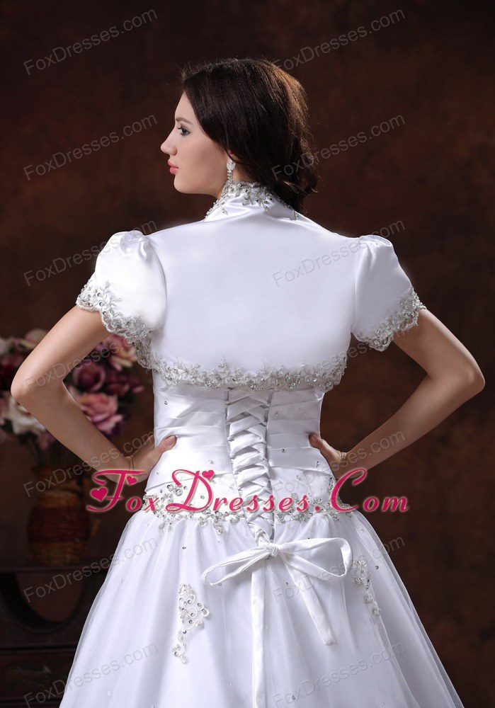 unique ruching wedding dress for feminie dress