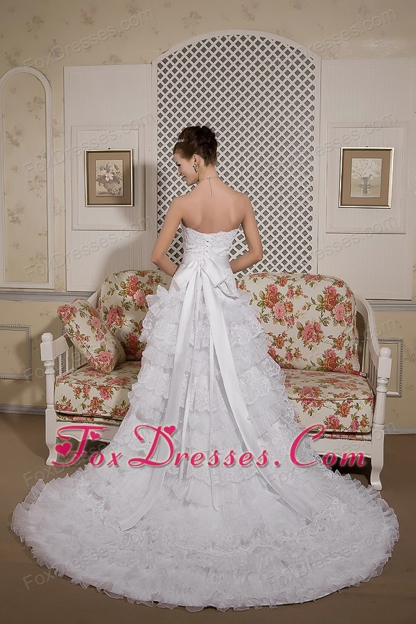 tie back wedding gown affordable 2013
