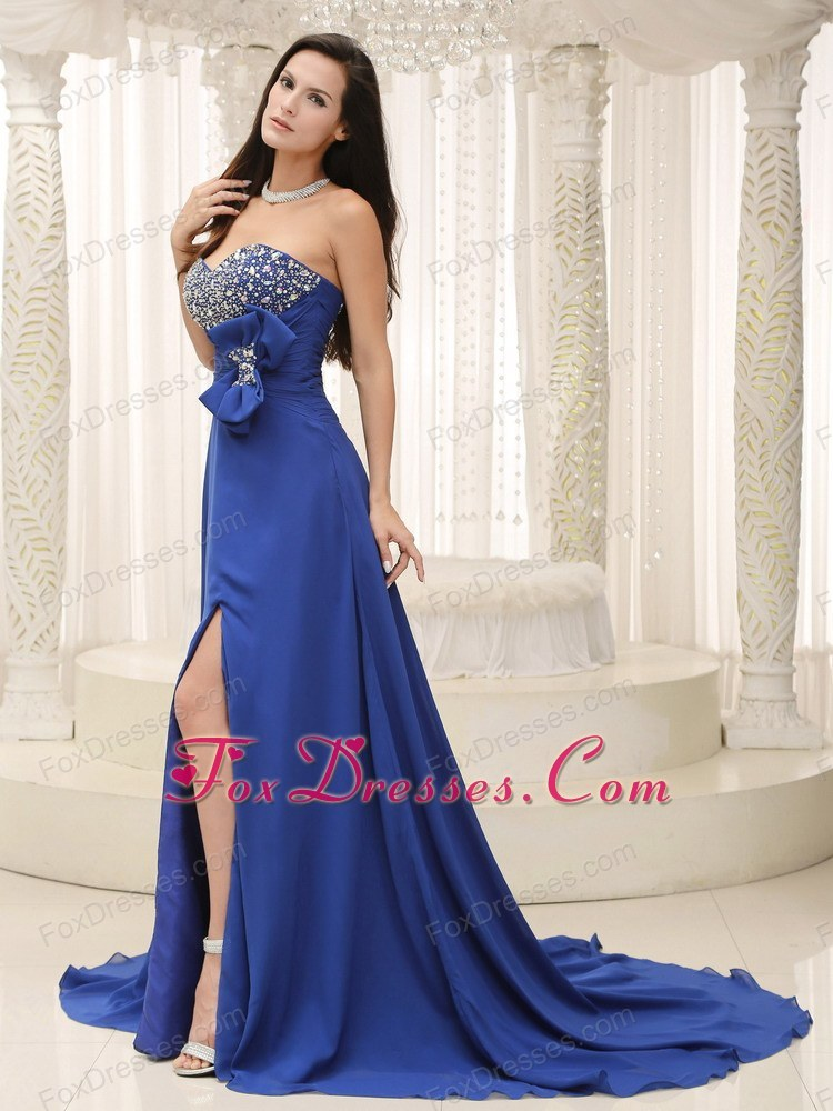 spring unique evening formal gown