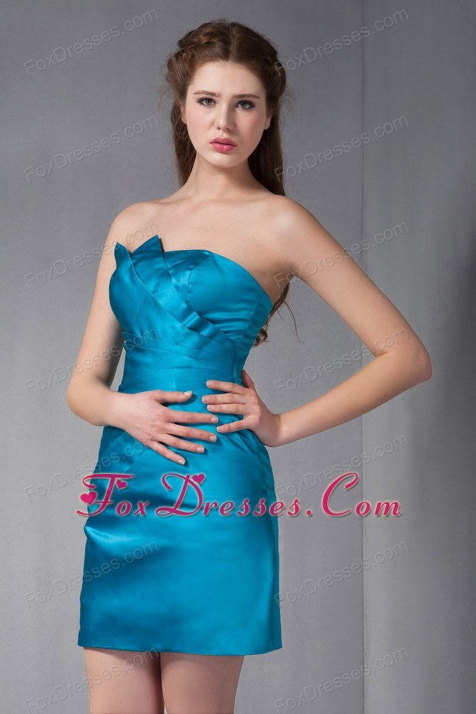 ruching column blue strapless 2013 homecoming dresses for prom