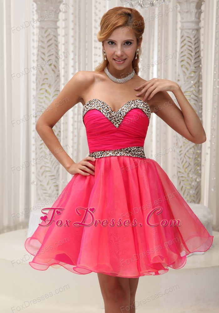 Pretty Ruching Sweetheart Coral Red Cocktail Dresses