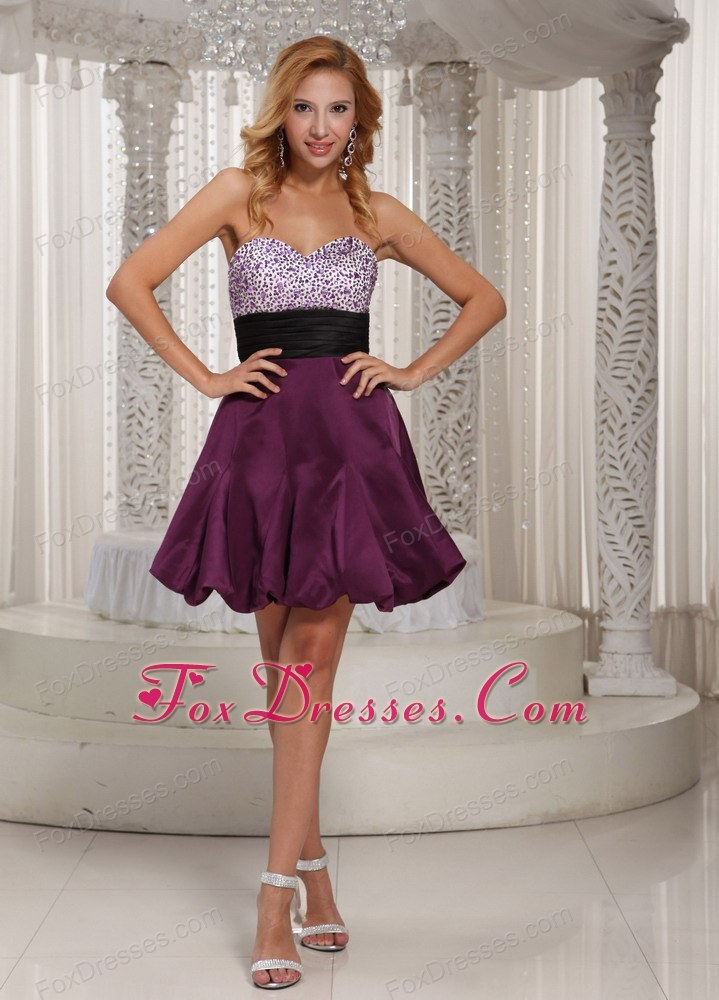 Sweetheart Beading Prom Party Dress With Belt
