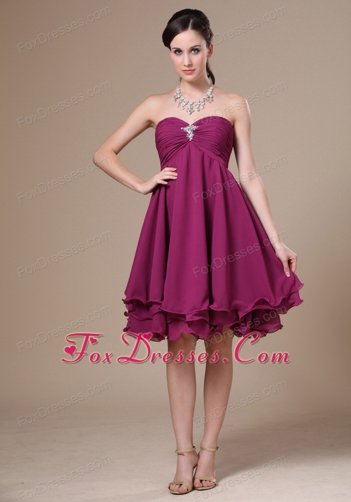 Fuchsia Knee Length Dress