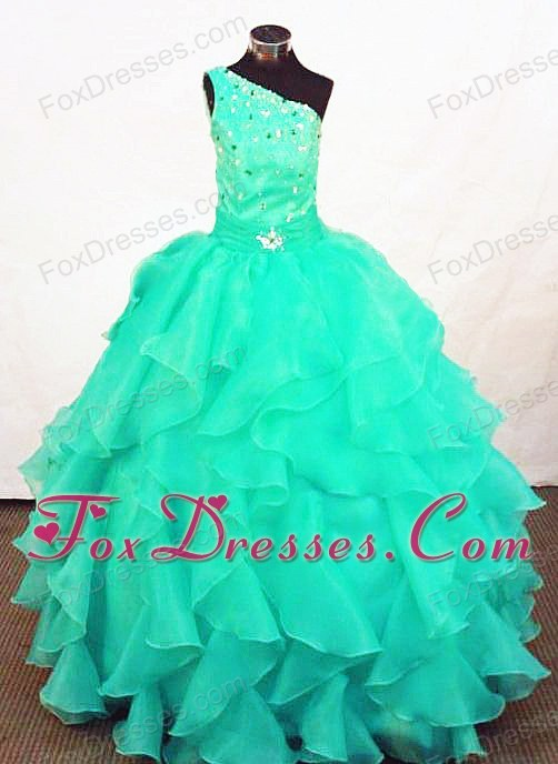 Organza Beading Little Girl Pageant Dresses Customize