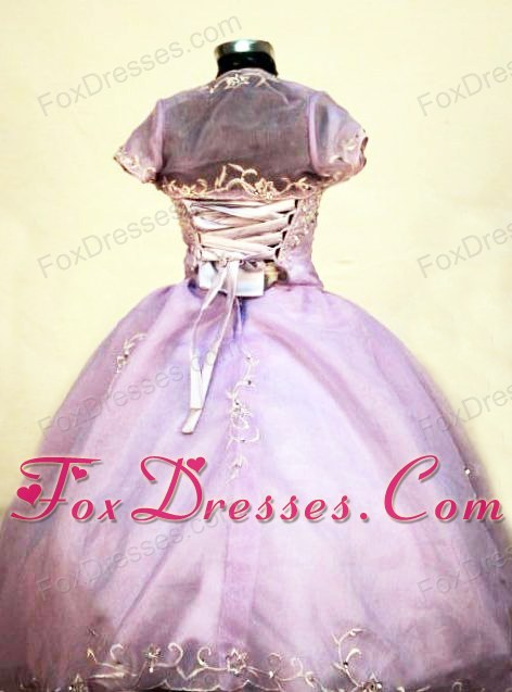 New Beading Straps Lilac Long Little Girl Pageant Dresses