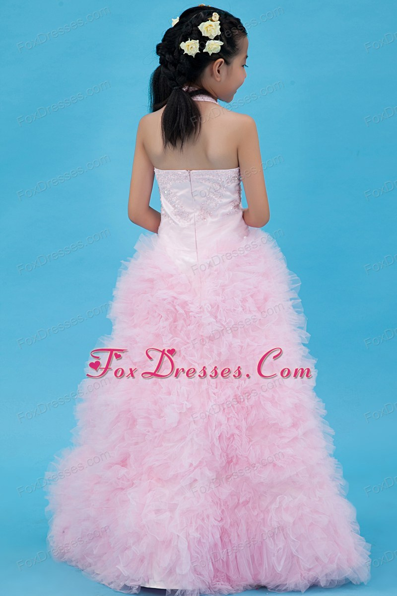 floor length flower girl dress