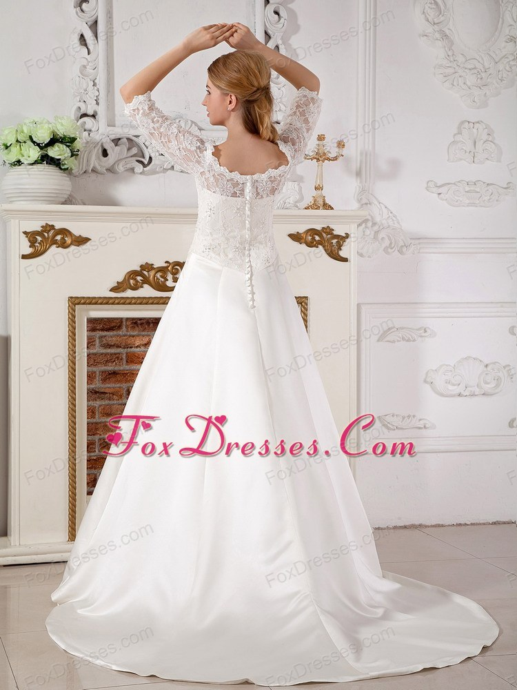 bright taffeta bridal gown