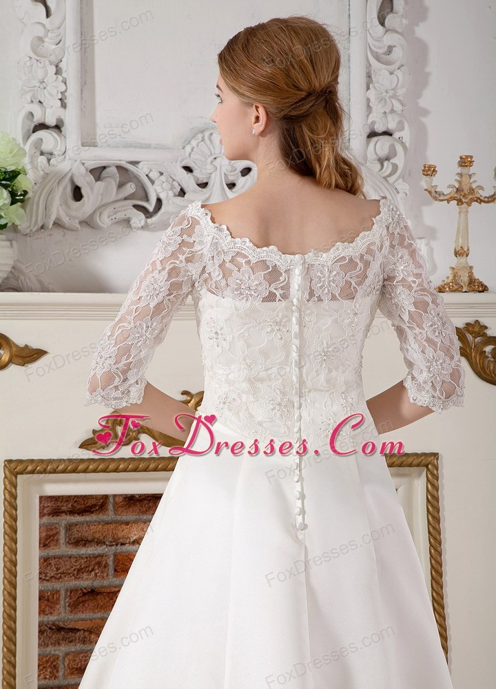 soft and feminine wedding dress under 250