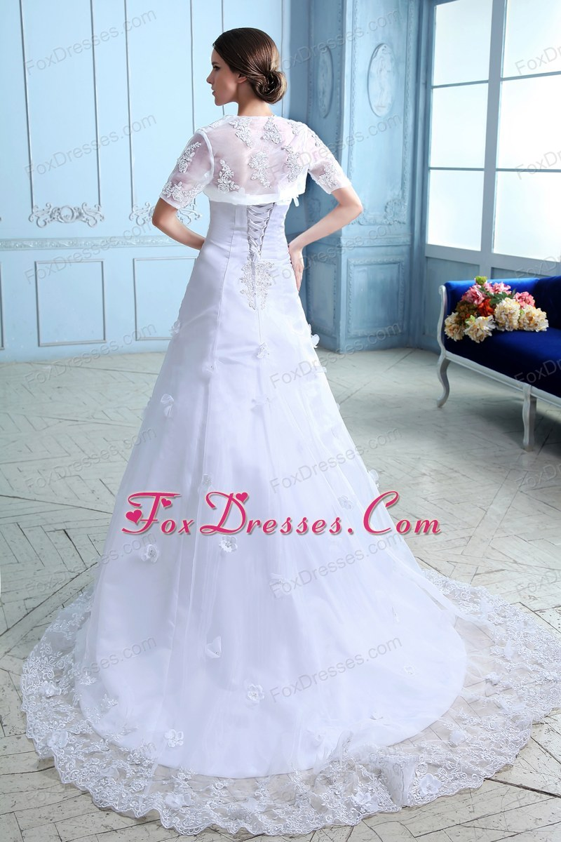 graceful a-line wedding dress